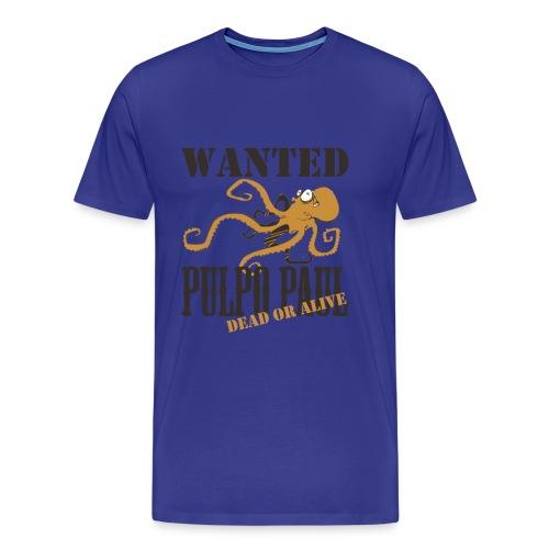 Paul le poulpe Wanted t-shirt Spanish Edition Men - T-shirt Premium Homme