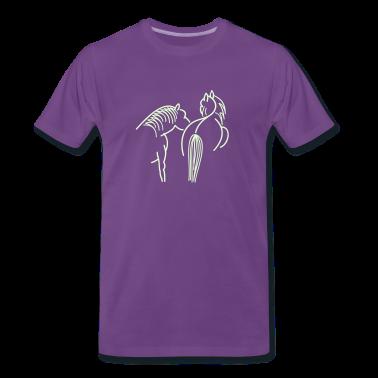 Indigo zwei Pferde / two horses (1c) Men's T-Shirts