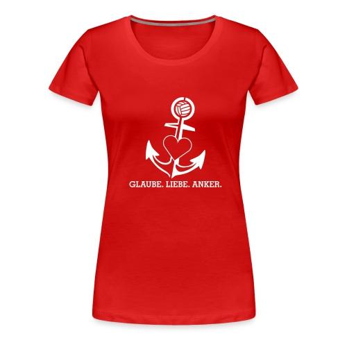 T-Shirt mit Anker (Damen) - Frauen Premium T-Shirt