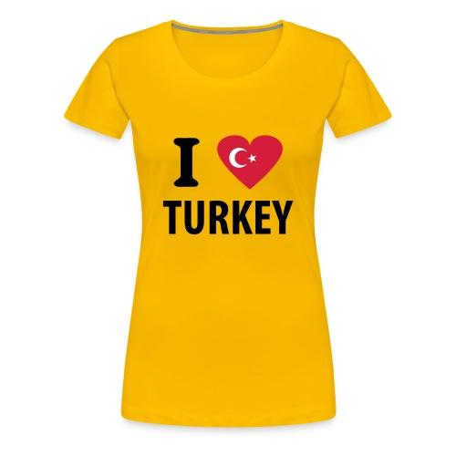 I love Turkey - Women's Premium T-Shirt
