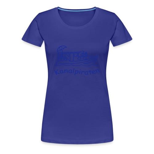 Kanalpiraten - Girlieshirt - Schrift Königsblau - Frauen Premium T-Shirt