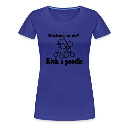 Poodle ladies - Premium-T-shirt dam