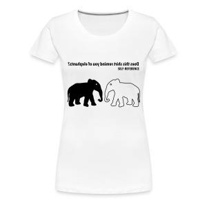 Self Reference | Zwart | V - Vrouwen Premium T-shirt
