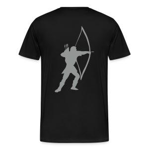 Zwart longbow archer medieval  T-shirts - Men's Premium T-Shirt