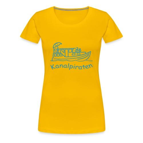 Kanalpiraten - Girlieshirt - Schrift Himmelblau - Frauen Premium T-Shirt