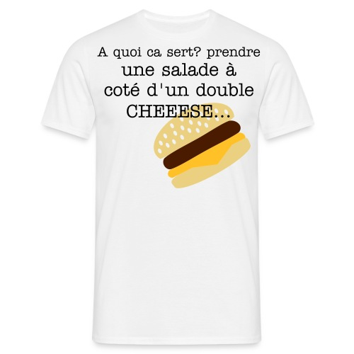 XXXL fat cheeese - T-shirt Homme