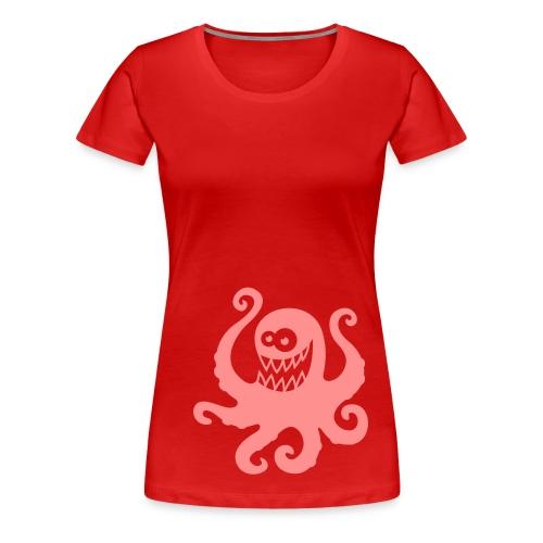 Tintenfisch (bissig) - Frauen Premium T-Shirt