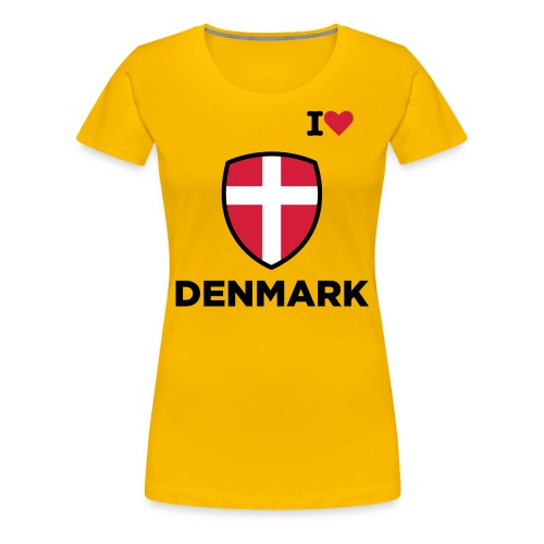 I love Denmark - Women's Premium T-Shirt