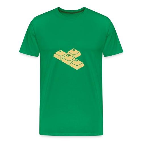Green WASD Tee - Men's Premium T-Shirt