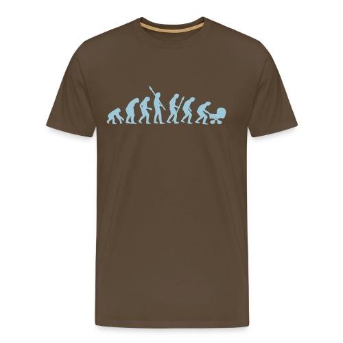 Evolution Papa - Männer Premium T-Shirt