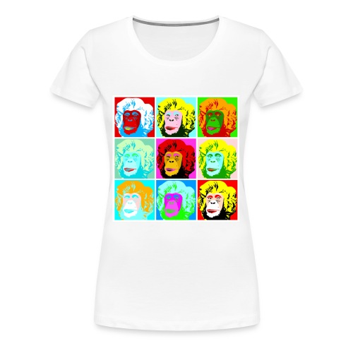 Monkey Monroe // Girls T-Shirt weiß - Frauen Premium T-Shirt