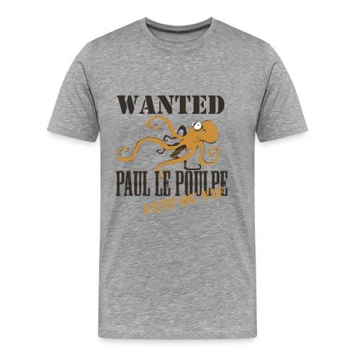 Paul le poulpe Wanted t-shirt French Edition Men - T-shirt Premium Homme