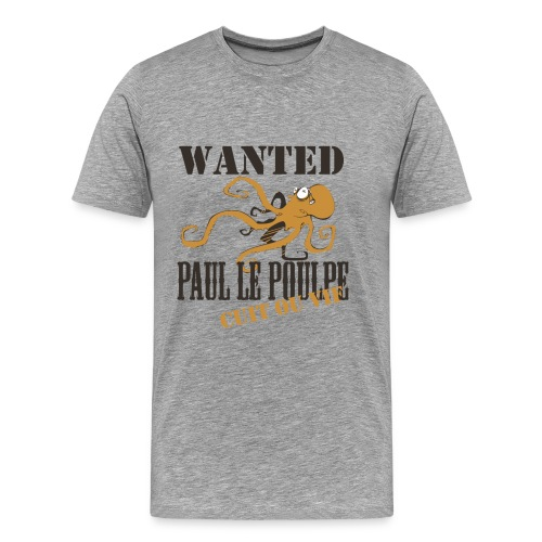 Paul le poulpe Wanted t-shirt French Edition Men - T-shirt Premium Homme