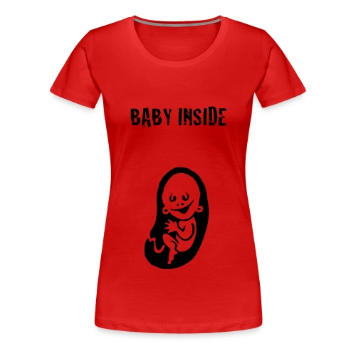 baby inside shirt - Vrouwen Premium T-shirt