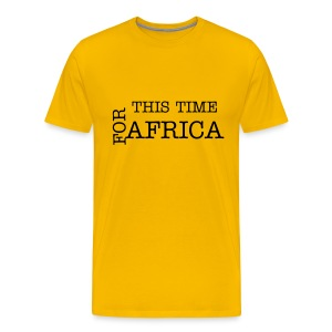 This Time for Africa - Geel - Mannen Premium T-shirt