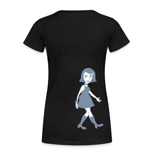 Dora von hinten - Frauen Premium T-Shirt