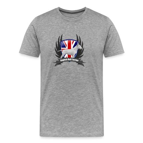 Bullterrier white Unions Jack wings - Men's Premium T-Shirt