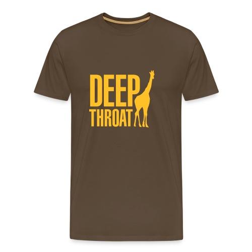 T-shirt Deep throat giraffe - Mannen Premium T-shirt