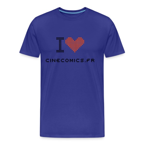 T-shirt i love cinecomics pixel - T-shirt Premium Homme