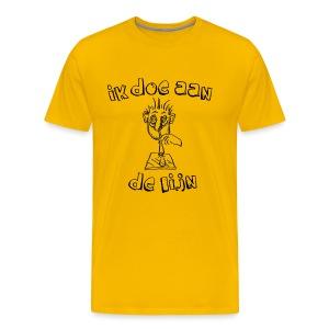 T-shirt Ik doe aan de lijn - Mannen Premium T-shirt