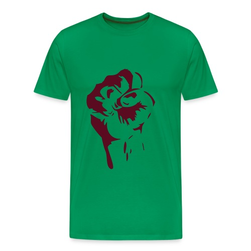 faust rot auf kaki - Männer Premium T-Shirt