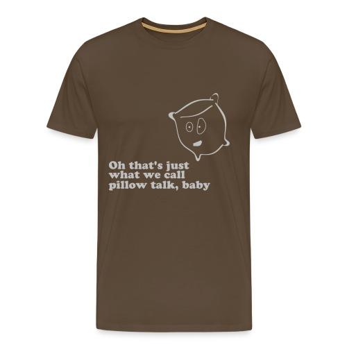Pillow Talk - Grey - Men's Premium T-Shirt