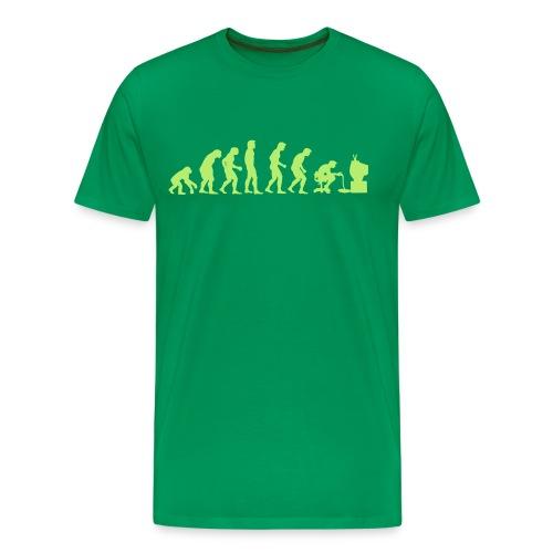 Evolution Zocker - Männer Premium T-Shirt