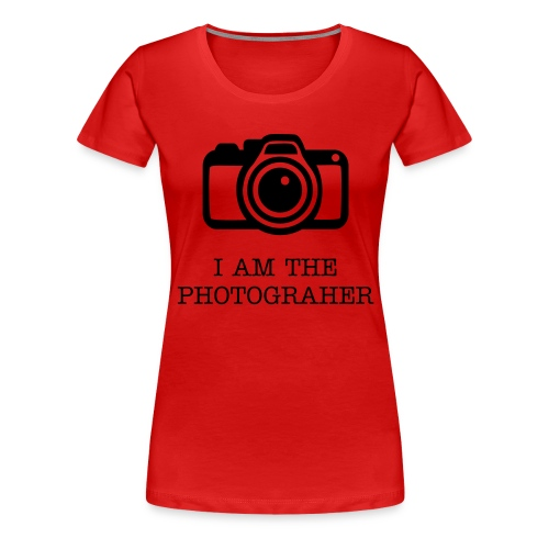 I am the photographer - Dame premium T-shirt