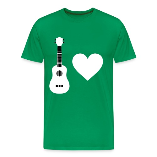 Ukulele Love - White - Men's Premium T-Shirt