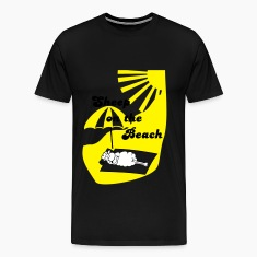 Black Sheep on the beach Men's T-Shirts