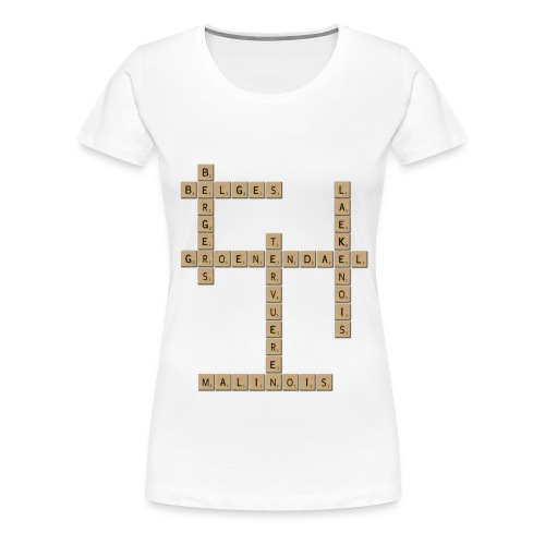Scrabble - T-shirt Premium Femme