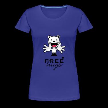 blue Schmusen für frei / free hugs (1c) Women's T-Shirts