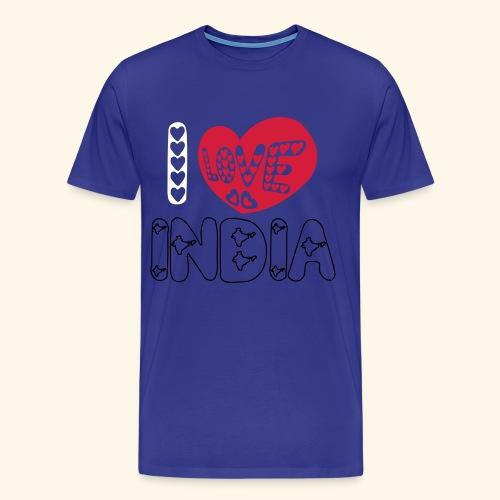 I LOVE INDIA - T-shirt Premium Homme
