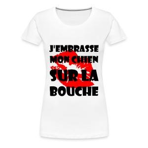 sur la bouche - T-shirt Premium Femme