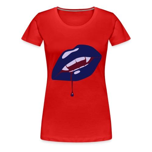 Vampire´s Kiss - Frauen Premium T-Shirt