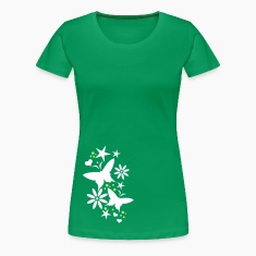 Grass green Flower T-Shirts