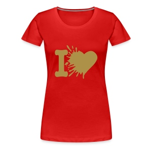 Ladies shaped T with large design - Women's Premium T-Shirt