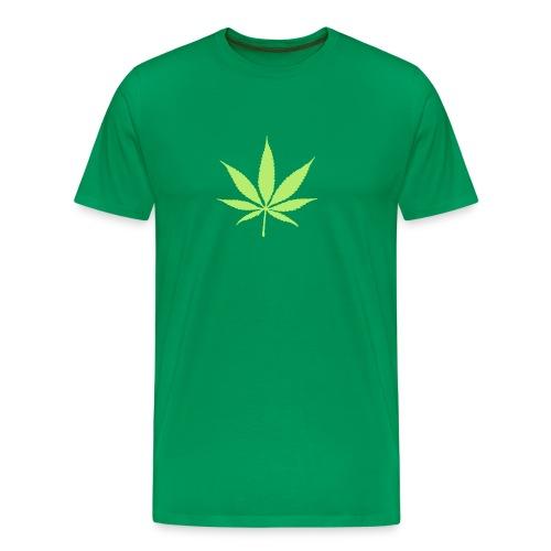 aus biologischem Anbau auf Rücken - Männer Premium T-Shirt