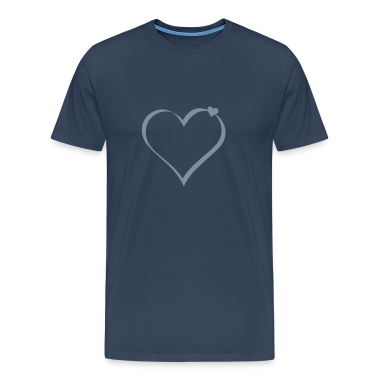 Navy Herzen / hearts (ribbon, 1c) Men's T-Shirts