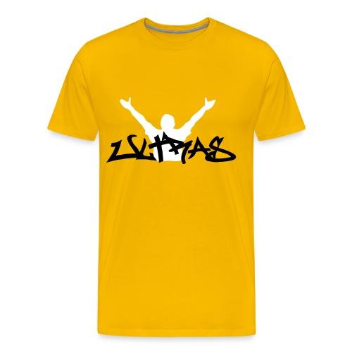 Ultras Graffitie Shirt - Gelb - Schwarz/Weiß - Männer Premium T-Shirt