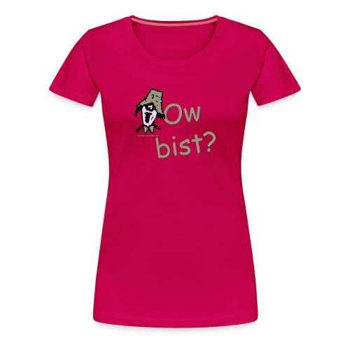 Ow Bist? womens Plus size t-shirt - Women's Premium T-Shirt