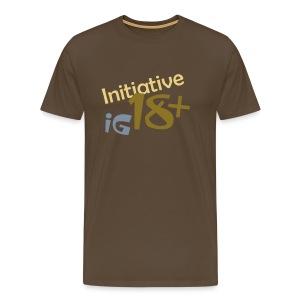 IG 18+ Shirt (Farbe: Edelbraun) - Männer Premium T-Shirt