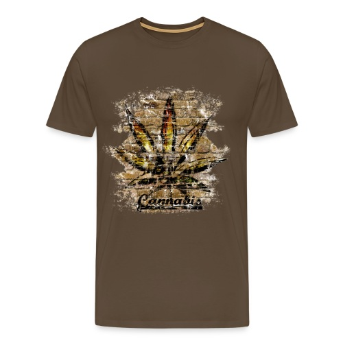 T shirt weed old school - T-shirt Premium Homme