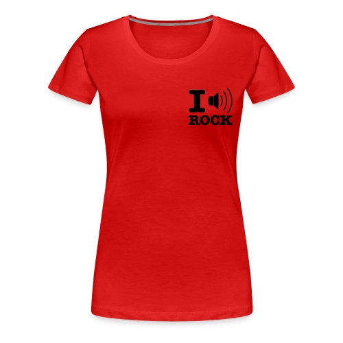 I Love RockstarShirt - Frauen Premium T-Shirt