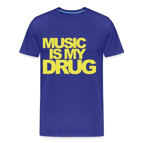 Music is My Drug - Mannen Premium T-shirt
