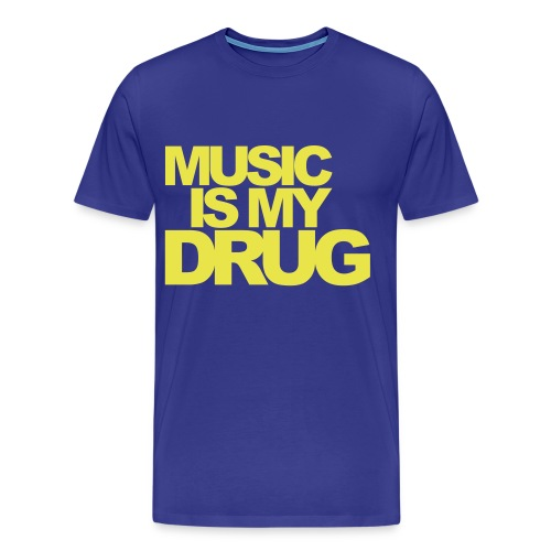 Music is My Drug - Mannen Premium T-shirt