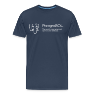 T-Shirts ~ Men's Premium T-Shirt ~ Navy blue PostgreSQL XXXL t-shirt