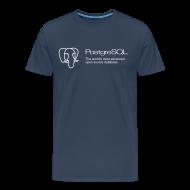T-Shirts ~ Men's Premium T-Shirt ~ Navy blue PostgreSQL XXXL t-shirt