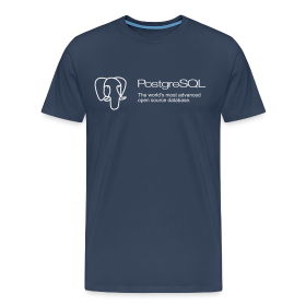Navy blue PostgreSQL XXXL t-shirt ~ 1850