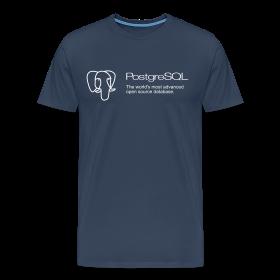 Navy blue PostgreSQL XXXL t-shirt ~ 1850